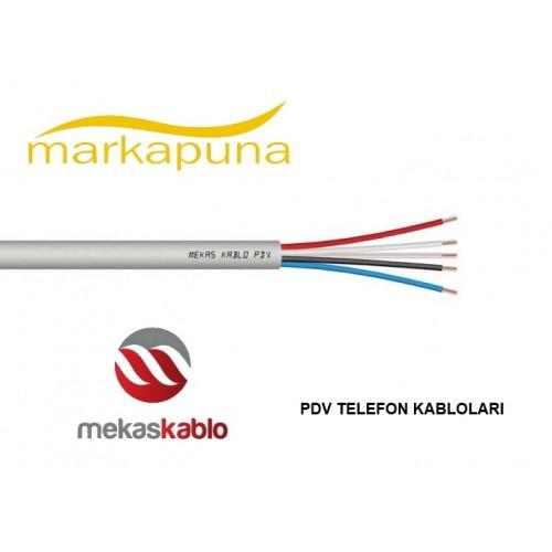 Mekas PDV-K 0,50 Kalaylı Telefon Kablosu 100 mt