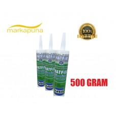 HATFIX HF 50 SİLİKONİZE MASTİK 500 GR GRİ